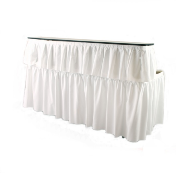 6u0027 Bar With White Skirting