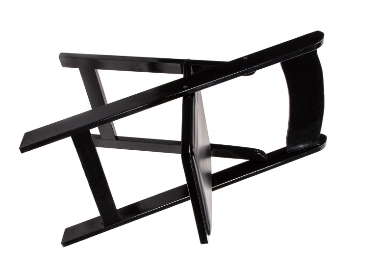 Black Wood Padded Chair