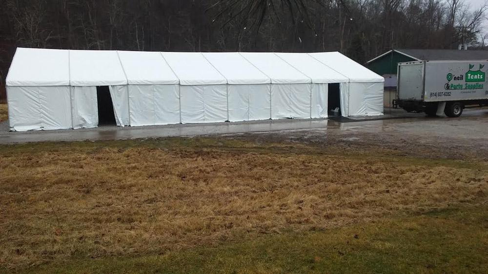 Construction Tent Rentals | O'Neil Tents - Columbus, Ohio