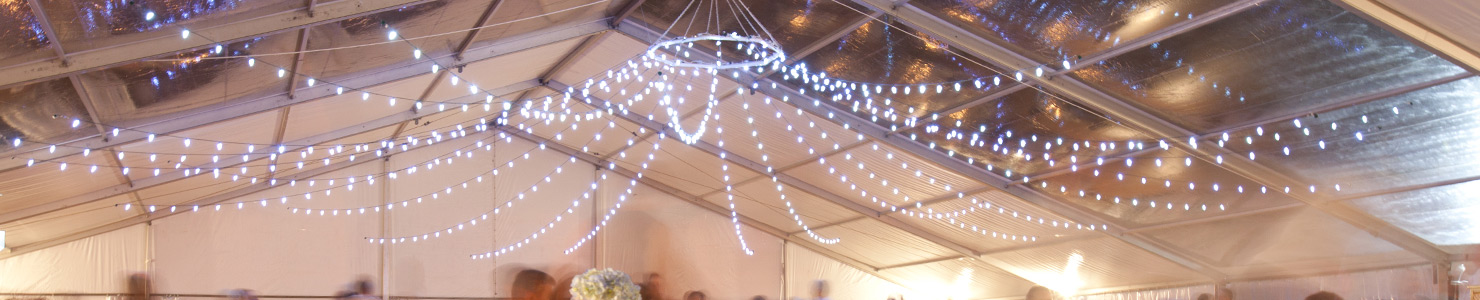 Lighting rental and design by O'Neil Tents