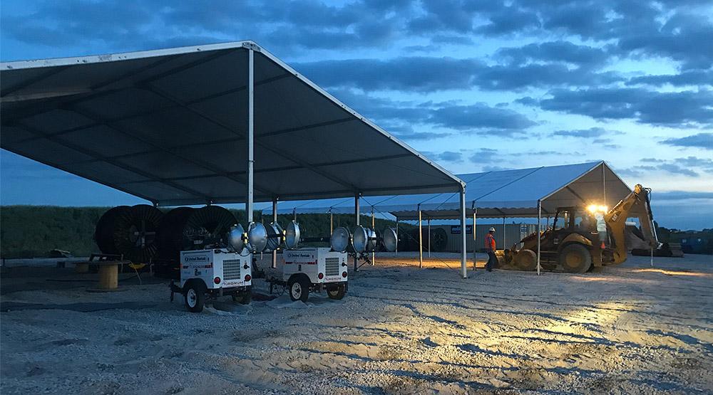 Construction Tent Rentals O Neil Tents Columbus Ohio